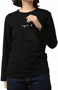 ★アニエスベー★小さいロゴ長袖Tシャツ(レディース)ブラックLサイズ