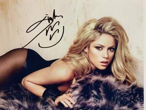 歌手シャキーラ直筆サイン シーウルフ El Dordo Shakira Sale el Sol Oral Fixation コロンビア出身のラテンポップシンガー B5横25×縦20