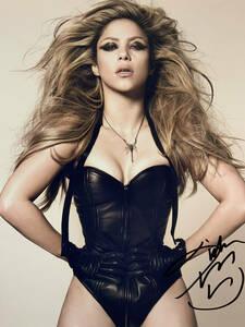 歌手シャキーラ直筆サイン シーウルフ El Dordo Shakira Sale el Sol Oral Fixation コロンビア出身のラテンポップシンガー B5 縦25×横20
