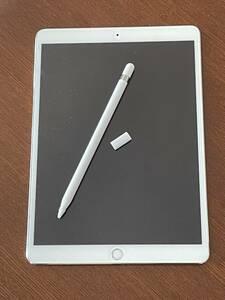 送料込 Apple Pencil付 iPad Pro 10.5インチ 256GB Wifi+Caller シルバー SIMフリー ペーパーライクフイルム
