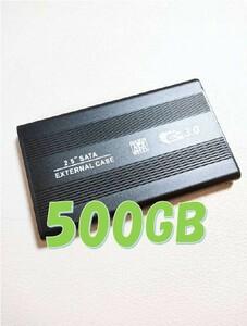テレビ・PS4・PC USB3.0 ポータブルHDD 500GB