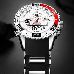 海外人気ブランド 新作 メンズスポーツ腕時計 クロノグラフ 新品 女ウケ モテ(ブラック)