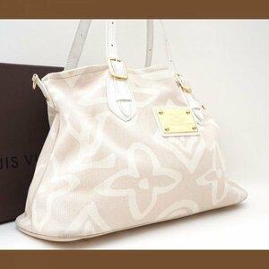 【極美品】ルイヴィトン Louis Vuitton クルーズライン タイシエンヌ PM 白 ハンドバッグ ショルダー キャンバス レザー 定価約13万