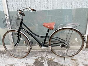 27インチ ☆ハンドル高め☆ブリジストン LOCOCO レバー式 オートライト 通学 通勤 中古自転車