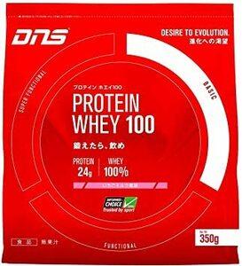 350g DNS ホエイプロテイン ホエイ100 いちごミルク風味 350g (約10回分) 水で飲める プロテイン WPC ホ