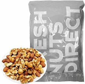 1キログラム (x 1) 低糖質ミックスナッツ 1kg (新鮮生くるみ、素焼きヘーゼルナッツ、素焼きアーモンド) ロカボナッツ