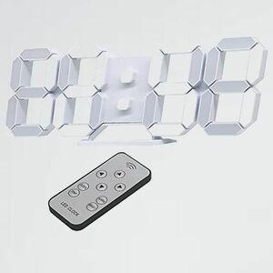新品 目玉 LED時計 デジタル時計 7-72 KOSUMOSU ACD-210W 壁掛け時計 置き時計 3D LED CLOCK 目覚まし時計