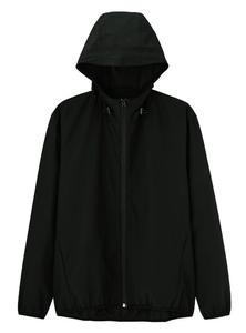 ★ 未使用品 ★ 防風素材・軽量 フード付アウトドア ジャケット/マウンテンパーカー ブラック Sサイズ 2