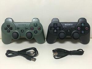 ワイヤレスコントローラー DUALSHOCK3 デュアルショック3 2個セット USBケーブル×2本 SONY純正品 PS3