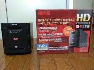 HDDなし ケース Buffalo HD-QS1.0TSU2/R5 付属品完備