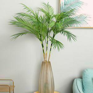 85cm 鉢無し オシャレな人口観葉植物 花 園芸 造花 フェイクグリーン 盆栽 ヤシの木 葉っぱ 枝 インテリア リビング 装飾 夏