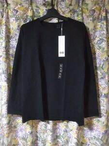 XL/新品/UNIQLO ユニクロ ユー/レディース ヒートテック コットン 長袖Tシャツ/黒 秋冬用