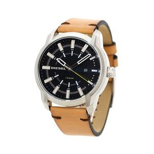 ディーゼル アームバー 44mm 革ベルト メンズ 腕時計 DZ1847 DIESEL ダークブルー×ライトブラウン