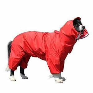 限定価格!赤 26 OTOKU 犬用レインコート 快適 いい素材 レインコート ペットレインコート カッパ 犬用合羽 小型JFIY