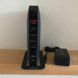 【中古品/美品】BUFFALO AirStation WSR-1800AX4-BK Wi-Fi6対応ルーター ☆箱無/送料込み☆