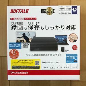 【新品/未開封】BUFFALO 外付けHDD 4TB USB3.1/USB3.0用 HD-NRLD4.0U3-BA バッファロー