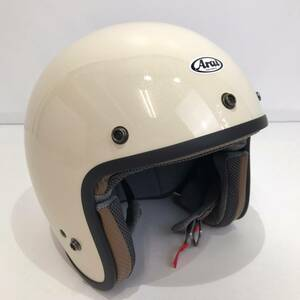 No.1091【Arai】アライ クラシックMOD T8133:2015 ヘルメット 白 ホワイト 19年製 61.62㎝未満  中古品