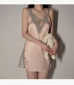 ピンクセクシーランジェリー ベビードール 部屋着 ナイトウエア タンクトップ ドレス