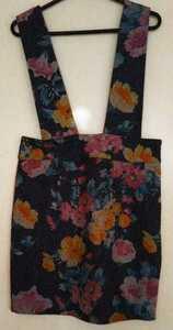 MAO WAO/マオワオ/吊りスカート/サスペンダースカート/Mサイズ/花柄/美品