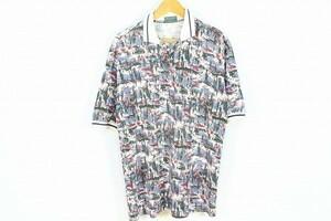 DESCENTE GOLF デサント 綺麗め ポロシャツ トップス ウェア ゴルフ 半袖 総柄 L マルチカラー メンズ [551950]