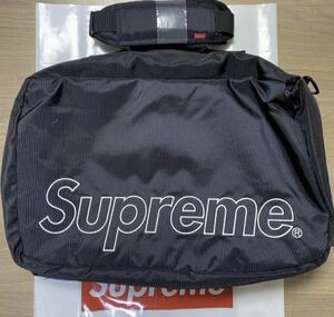 Supreme 19fw Duffle Bag Black 19aw backpack shoulder waist tote ポーチ ダッフルバッグ 12 14 15 16 17 18 19 20 ボストン 2way 黒