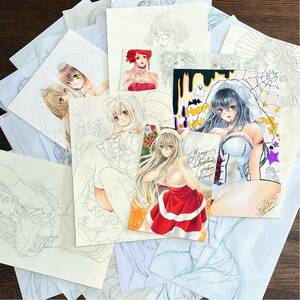 ** same person hand-drawn illustrations **....41 point assortment