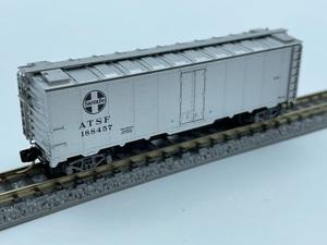 1J N_外国形 MICRO-TRAINS マイクロトレインズ 貨車 40' Steel Side Ice Reefer ATSF 188457号 品番59030