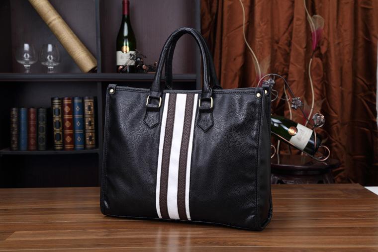 高級★メンズ ビジネスバッグ ショルダー 黒 多機能 鞄 029 新品
