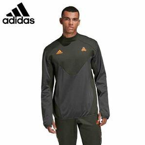 新品 8789円 Mサイズ adidas アディダス サッカーウェア ピステトップ メンズ TANGO ウォーム スウェットシャツ