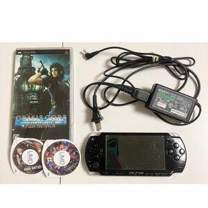 PSP2000 本体+ソフト3本セット ガンダム バトルクロニクル FF7 SONY PSP本体 ソニー プレイステーションポータブル PSP 充電器付き