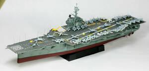 ●完成品・1/800・アメリカ海軍フォレスタル級空母・CV-60『サラトガ』【ジョリーロジャース】