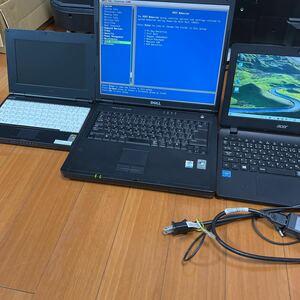 パソコン3台まとめ売り 正常品とジャンク品セット acer DELL NEC ES1-131 即決送料無料