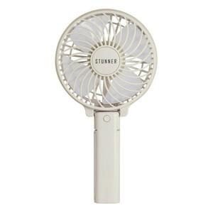 2way ハンディファン ホワイト 日本メーカー 1年保証付き 折り畳み 扇風機 マスククーラー 三段階調節 手持ち 卓上 小型 USB 熱中症対策
