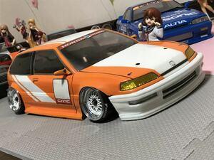送料無料 1/10 ホンダ グランドシビック EF9 ラジコン ボディ 環状族 旧車 パンドラ PANDORA HONDA CIVIC