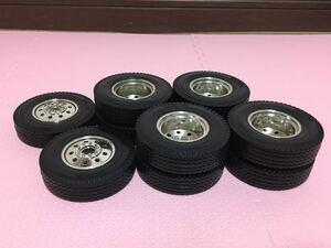 送料無料 1/14 トラック トレーラー ラジコン用 タイヤホイール セット タミヤ TAMIYA