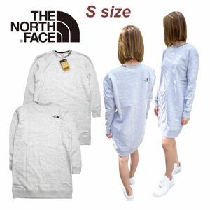 ザ ノースフェイス スウェット トレーナー NF0A5ILP グレー Sサイズ 裏起毛 ズーム 首元ロゴ THE NORTH FACE W ZUMU CREW DRESS 新品