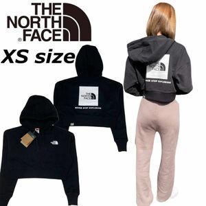 ザ ノースフェイス パーカー クロップド NF0A7SWD レッドボックス バックロゴ ブラック XSサイズ THE NORTH FACE CROP REDBOX HOODIE 新品