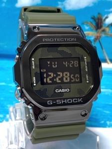 新品 カシオ Casio ジーショックG-SHOCK 腕時計 デジタル 20気圧防水 ワールドタイム カモフラージュ 迷彩 ブラック グリーン
