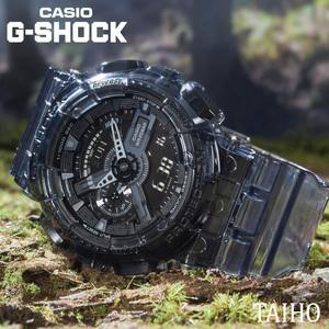 【即決 送料無料 セーム付き】新品カシオCasioジーショックG-SHOCK 腕時計20気圧防水スケルトンストップウオッチGA-110SKE-8A