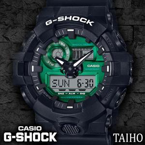 高級セームプレゼント♪新品 カシオ Casio ジーショック G-SHOCK 腕時計 クオーツ 樹脂ベルト 20気圧防水ウオッチ グリーン ブラック 黒 緑