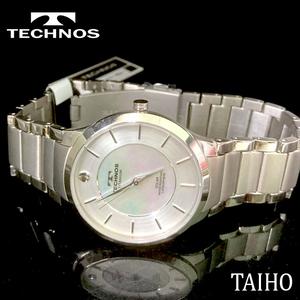 【即決 送料無料 セーム付き】新品 テクノス TECHNOS 正規品 腕時計 3気圧防水ソーラーウォッチチタンベルト メンズ シルバー T9A95IS