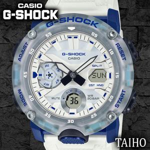 新品 カシオ Casio ジーショック G-SHOCK 腕時計 20気圧防水 スケルトン カレンダー ストップウオッチ クオーツ ワールドタイム ホワイト