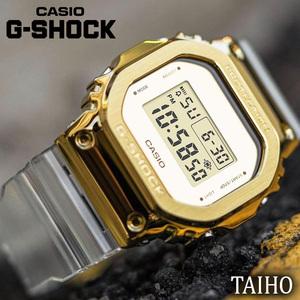 新品 カシオ Casio ジーショック G-SHOCK 腕時計 20気圧防水 デジタル表示 クォーツ カレンダー ストップウォッチ ゴールド 透明 クリア