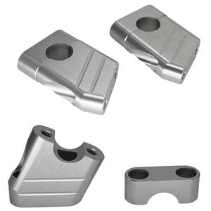 汎用品 アルミ製 ハンドルポスト バイク ハンドルアップ シルバー