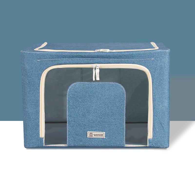 衣類収納ボックス 収納ケース 折りたたみ式収納ケース 収納ボックス デニム