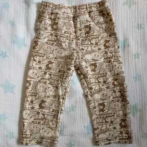 BANDAI バンダイ アンパンマン パンツ 90cm 茶 男の子 女の子 男女兼用 ばいきんまん ストレッチ 長ズボン ボトムス ベビー キッズ 子供服