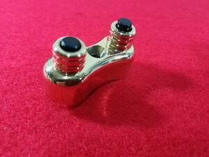 送料無料 ミニスイッチ 真鍮 プッシュスイッチ ホーンスイッチ ヘッドライト スタータースイッチ ハーレー  チョッパー ボバー 1