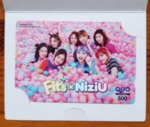 NiziU оригинал QUO card 500 иен минут