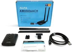 【即決 送料無料 匿名配送】ALFA AWUS036ACH a/b/g/n/ac 無線LAN USBアダプター USB3.0 USB Type-C USB3.0 USB Type-A 対応