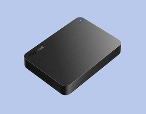*USB connection attached outside portable HDD 4TB*[ Toshiba Canvio ] as good as new *No.0RGT
